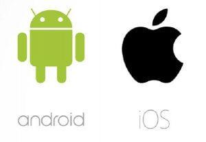 Android und Apple Logo