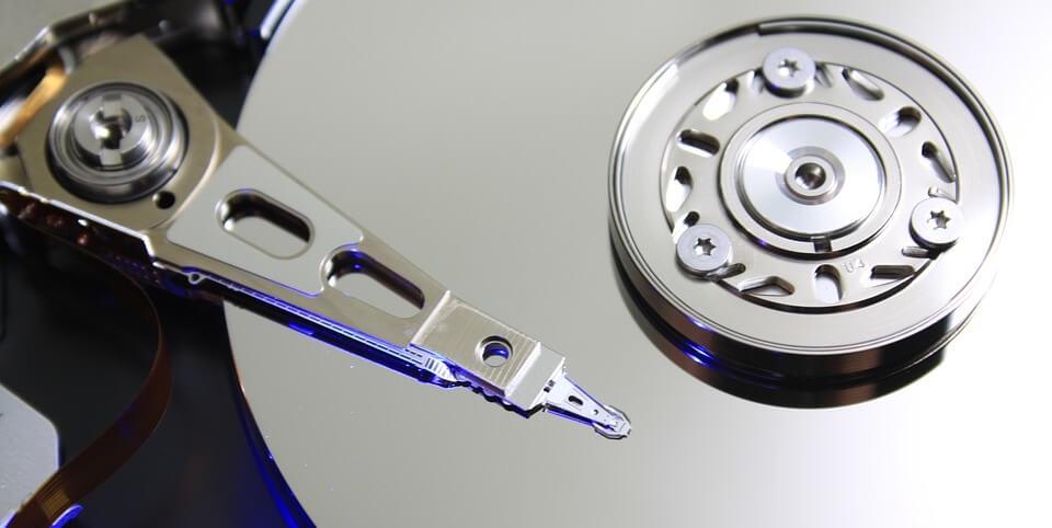 Bild von einer HDD Festplatte