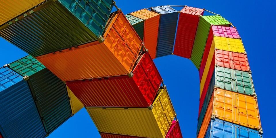 Bunte Industriecontainer