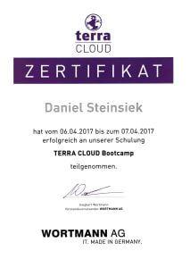 Zertifikat Terra Cloud scs