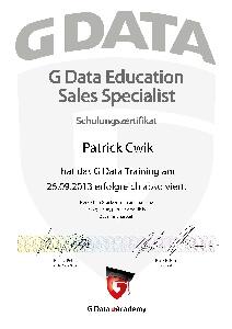 Experte G Data Education Sales Specialist