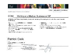 Zertifikat CCNA